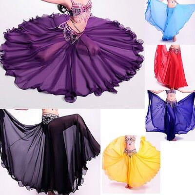 Belly Dance Costumes Long Skirt Full Circle Swing Skirt Dress Plus size S M L XL