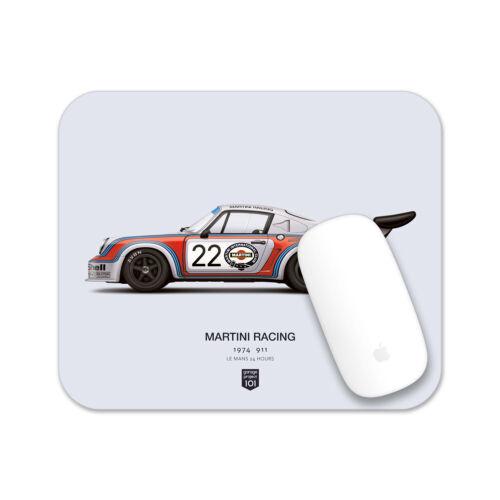 1974 Martini Racing Porsche (Le Mans 24 Hours) illustration Mouse Pad