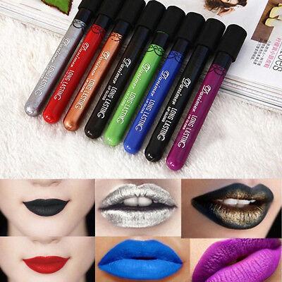 Gothic Matte Liquid Lip Gloss Matte Lipstick Waterproof Long Lasting Lip Stain - Gothic Makeup