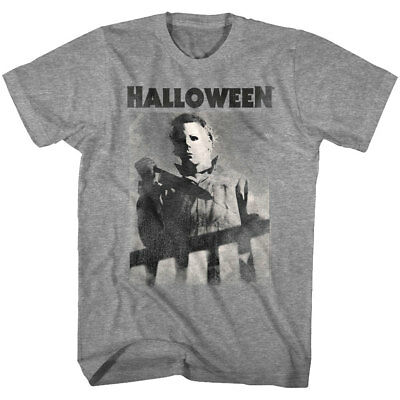 Top Halloween Horror Movies (Halloween Horror Movie Michael Myers Bloody Knife Men's T Shirt Evil Villain)
