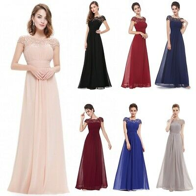 Women Formal Wedding Bridesmaid Evening Party Ball Prom Gown Long Cocktail -