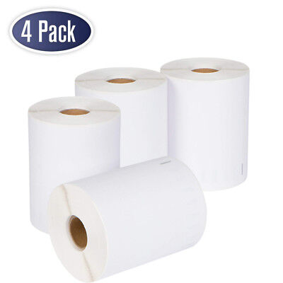 4 Rolls Dymo 4xl Direct Thermal Shipping Labels 4x6 1744907 Compatible 220roll