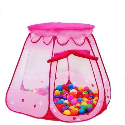 Kids Toys Princess Play Tent Girls Balls Pit Gifts Pink Portable for 1-8 Years - Play Tents For Kids