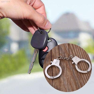 0106 Schlüsselanhänger KeyChain Handschellen Silber Metall Handwerk Zubehör Für