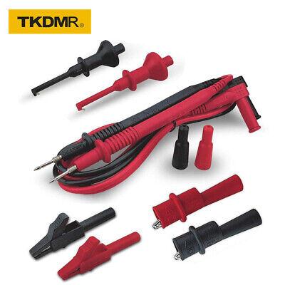 Tkdmr Multimeter Leads Electrical Test Lead Kit Threaded Alligator Clips Set Of8