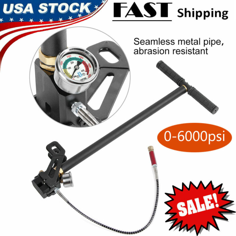 6000PSI High Pressure PCP Hand Operated Air pump Hunting Three Stage Hand Tool