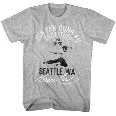 Bruce Lee Jun Fan Gung Fu Institute 1960 Men's T Shirt Seattle Washington (Jun Fan Gung Fu Institute T Shirt)
