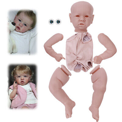 DIY Unpainted Doll Accessories Reborn Baby Doll Kit Suit for Silicone Doll 22inc