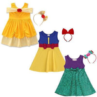 Toddler Baby Girls Tutu Dress with Headband Princess Snow White Minnie - Toddler Snow White Costume