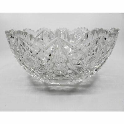 ABP American Brilliant Large Cut Glass Bowl