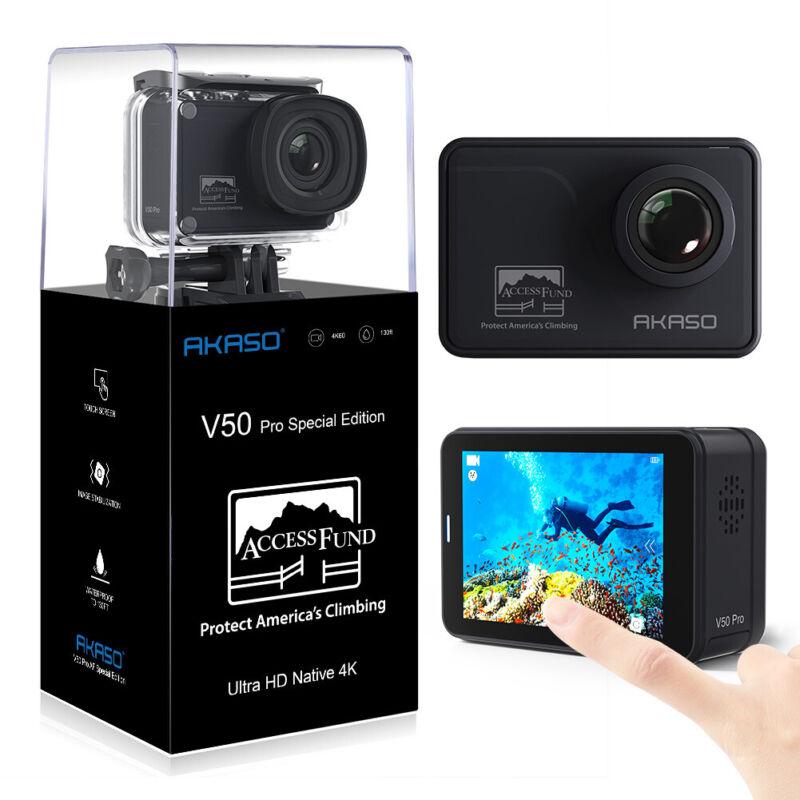 AKASO V50 Pro SE AF Action Camera 4K/60fps Touch Screen Waterproof refurbished