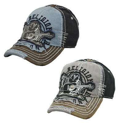 True Religion Men's TR1101 Buddha Vintage Distressed Trucker Hat Cap Clothing, Shoes & Accessories
