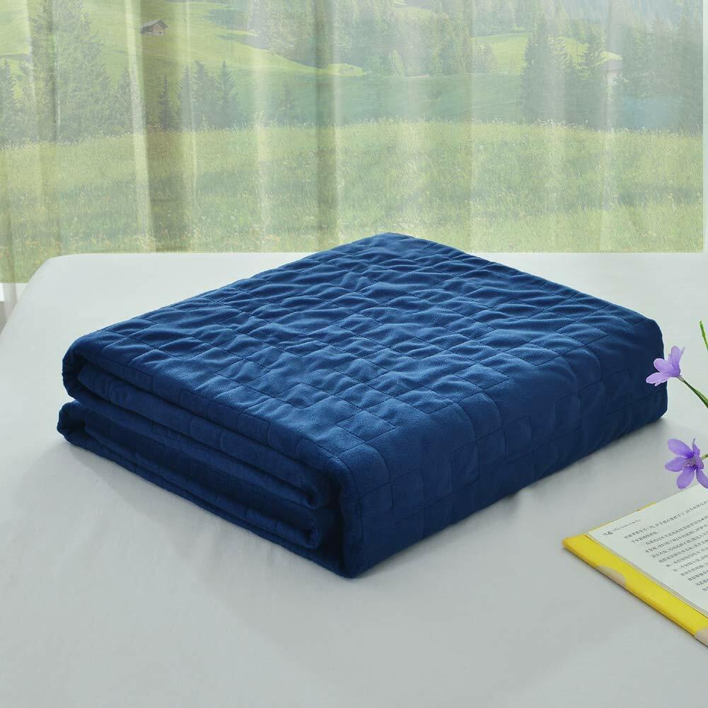 Soft Velvet Removable Duvet Cover for Weighted Blanket 60x80