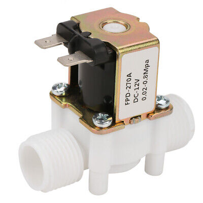 12v G12 Nc Plastic Electrical Inlet Solenoid Water Valve For Water Dispense Us