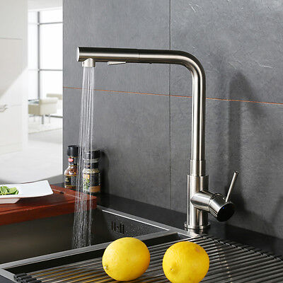 Modern Kitchen Complete Out Cock Single Handle Pull Down Sink Faucet Mixer Tap