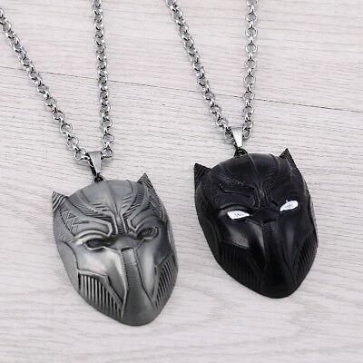 BLACK PANTHER Mask Neklace with 3D Pendant from Marvel Superhero - Female Superheroes With Masks