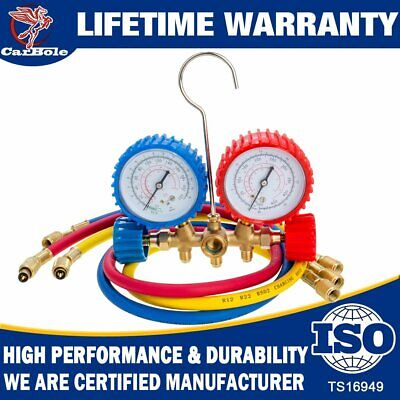 R12 R134a R502 Hvac Ac Refrigeration Charging Service Manifold Gauge Tools Kit