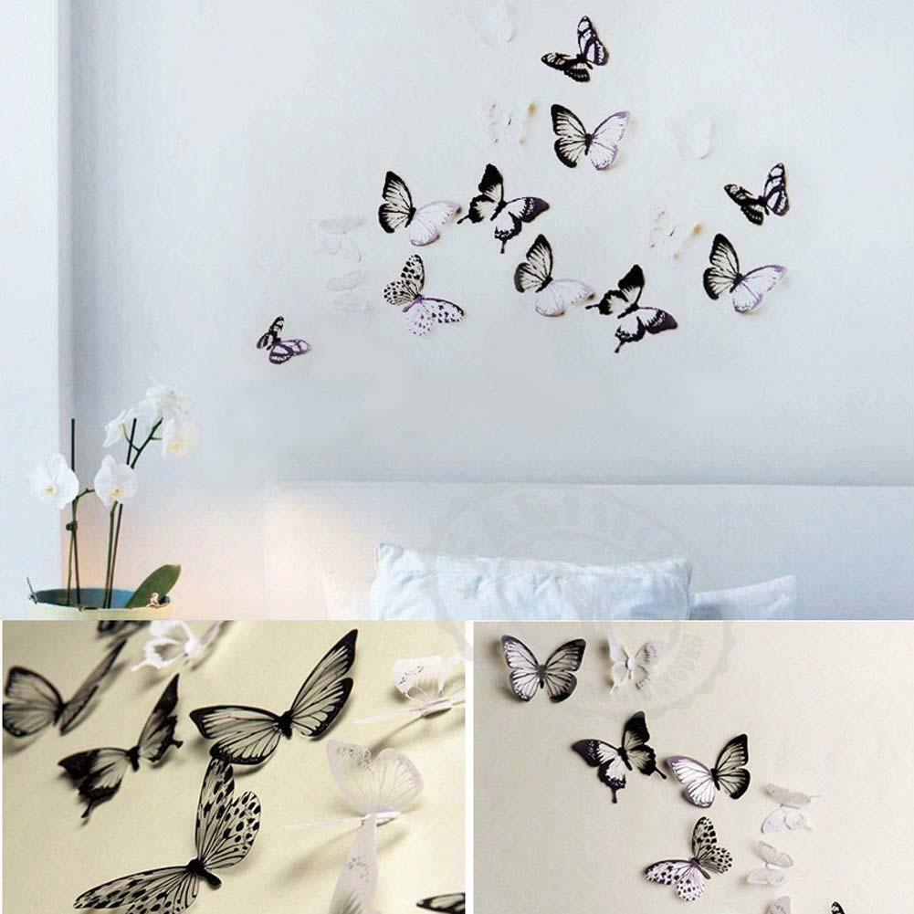 White Butterfly Wall Decor Target : D black white butterfly crystal decor wall stickers