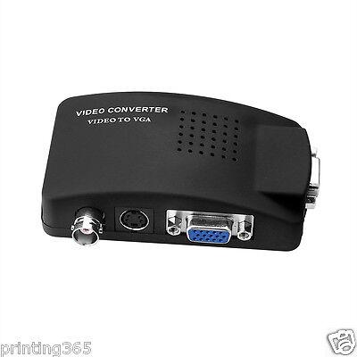 Bnc Vga ( S-video BNC VGA Video auf PC VGA  Converter Adapter EU Plug)