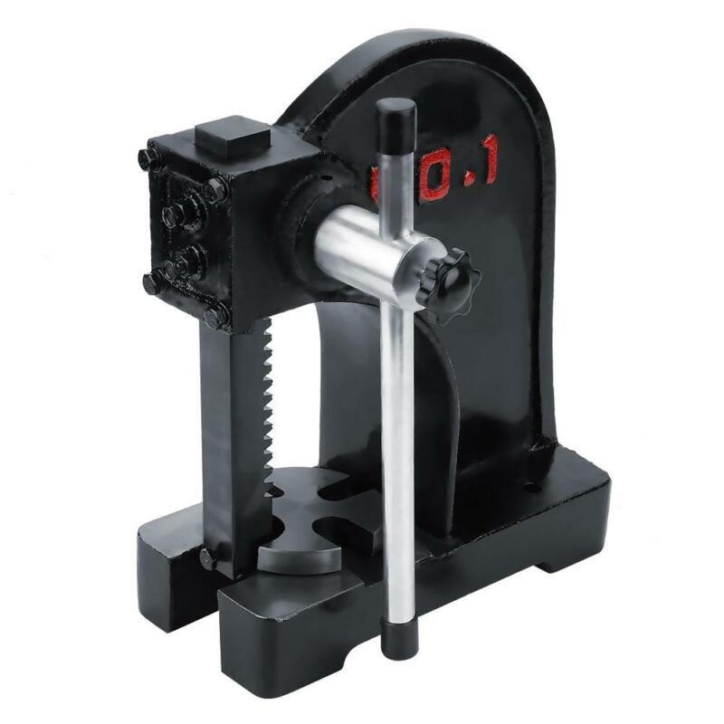 1T Arbor Press Tool Metal Manual Desktop Hand Punch Press For Install & Removing