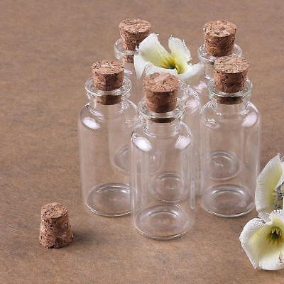 4--20ml Leere Kleines TransparentMerk Nachricht Bottles Glasflasche mit Korken