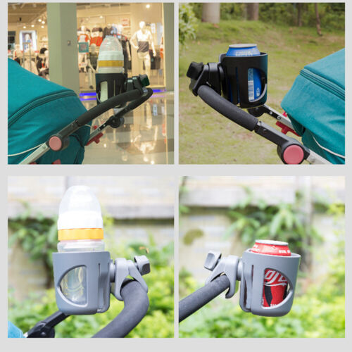 US Universal Stroller Cup Holder Bike Wheelchair 360 Degrees Rotation Clamp-on