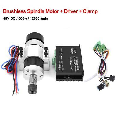 Dc 48v 500w Er16 High Speed Air Cooling Brushless Spindle Motor Driver Clamp