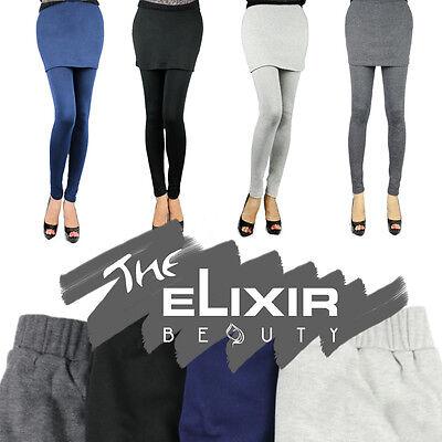 Women's Skirt Leggings Fall Winter M-XL Stretch Cotton 4 Colors USA SELLER - Skirts Leggings
