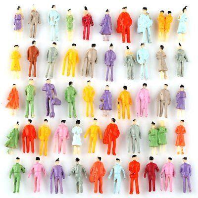 US 100pcs Z Scale 1:200 Model Painted People Figures Train Railway Street Layout