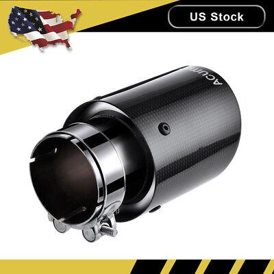 "Carbon Fiber Exhaust Tips Muffler Pipe Black 2.5"" Inlet - 3.5"" Outlet - 6.5""Long"