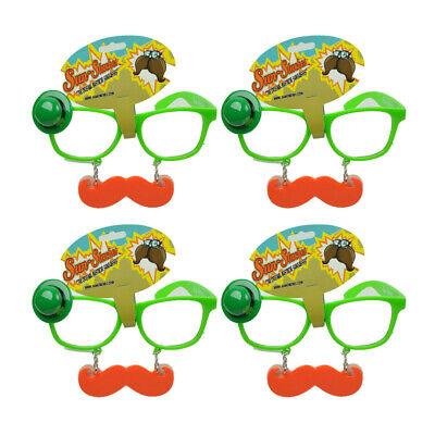 Sun Staches Green St Patricks Day Saint Pattys Lucky Mustache Glasses Set of 4 - St Patricks Day Sunglasses