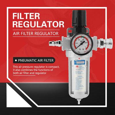 - 1/4''  Aluminum Air Compressor Filter Regulator Gauge Trap Oil Water Separator