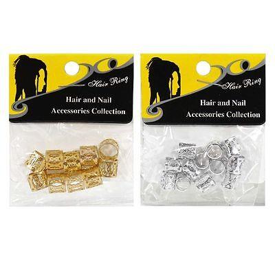 Hair Ring Braiding Clips Dreadlock Cuffs Clip Beads For Braiding Hair](Hair Clips For Dreadlocks)