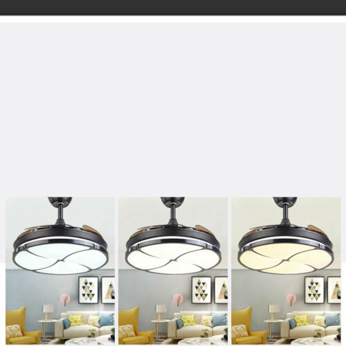 3-Speed 2-Dimmable LED Light Remote Control Ceiling Fan Lighting Kit 23 in