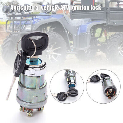 12V Universal Ignition Starter Switch With Cover Car Marine Motorcycle 2 Keys