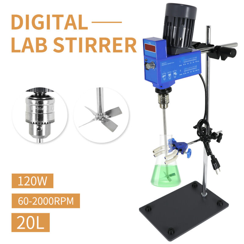 Lab Digital Overhead Stirrer Lab Mixer Heavy Duty Overhead Laboratory Mixer