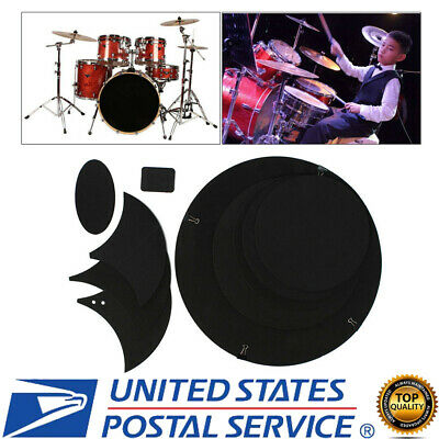 10pcs Mute Silencer Drumming Practice Pad Bass Drums Quiet Sound off (Bass Drum Silencer Pad)