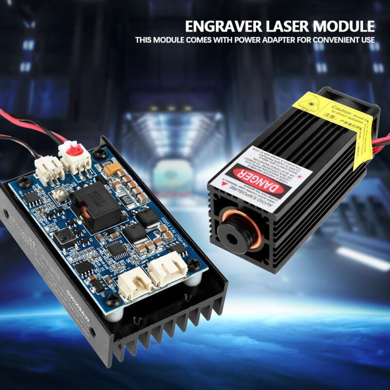 15W Laser Head Engraving Module w/ TTL 450nm Blu-ray Wood Marking Cutting Tool