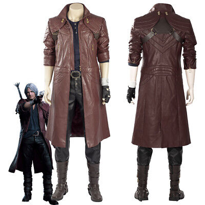 Devil May Cry V DMC5 Dante Aged Outfit Boots Costume Cosplay Coat Full Set  - Devil Outfits