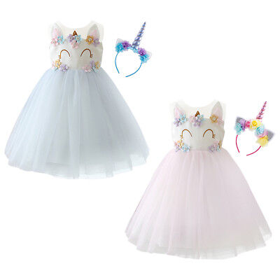 Dress Up Outfits For Kids (Girls Unicorn Costume Fancy Dress up Clothes for Kids Birthday Party)