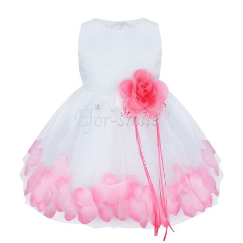 Pink Flower Girl Princess Wedding Party Pageant Vintage