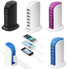 joblot of brand new 50 X 6 USB chargers RRP £15