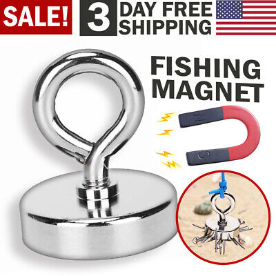 Fishing Magnet With Lifting Ring Magnetic Retrieving Lake Treasure Hunt Collects