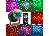 Compact Multi Colour Beams Moving Twisting Mirror Ball Lighting With Controller Remote DJ Kids Party