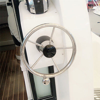 11 Boat Stainless Steel Steering Wheel With Knob For Marine Yacht 19Mm