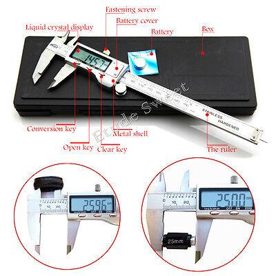 """UK 6"""" 150mm Digital Vernier Caliper Gauge Micrometer Tool LCD Electronic Display"""
