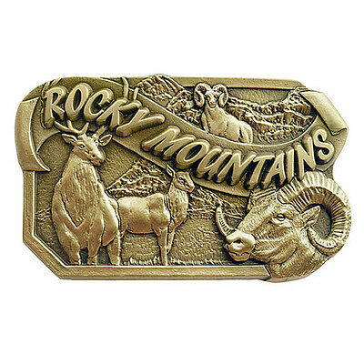 Rocky Mountains Wildlife Belt Buckle OBM131 IMC-Retail