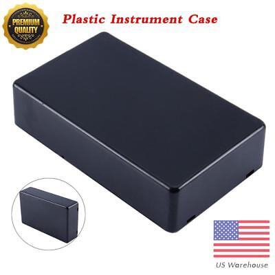2pcs Plastic Electronic Project Box Enclosure Instrument Case 100x60x25mm New