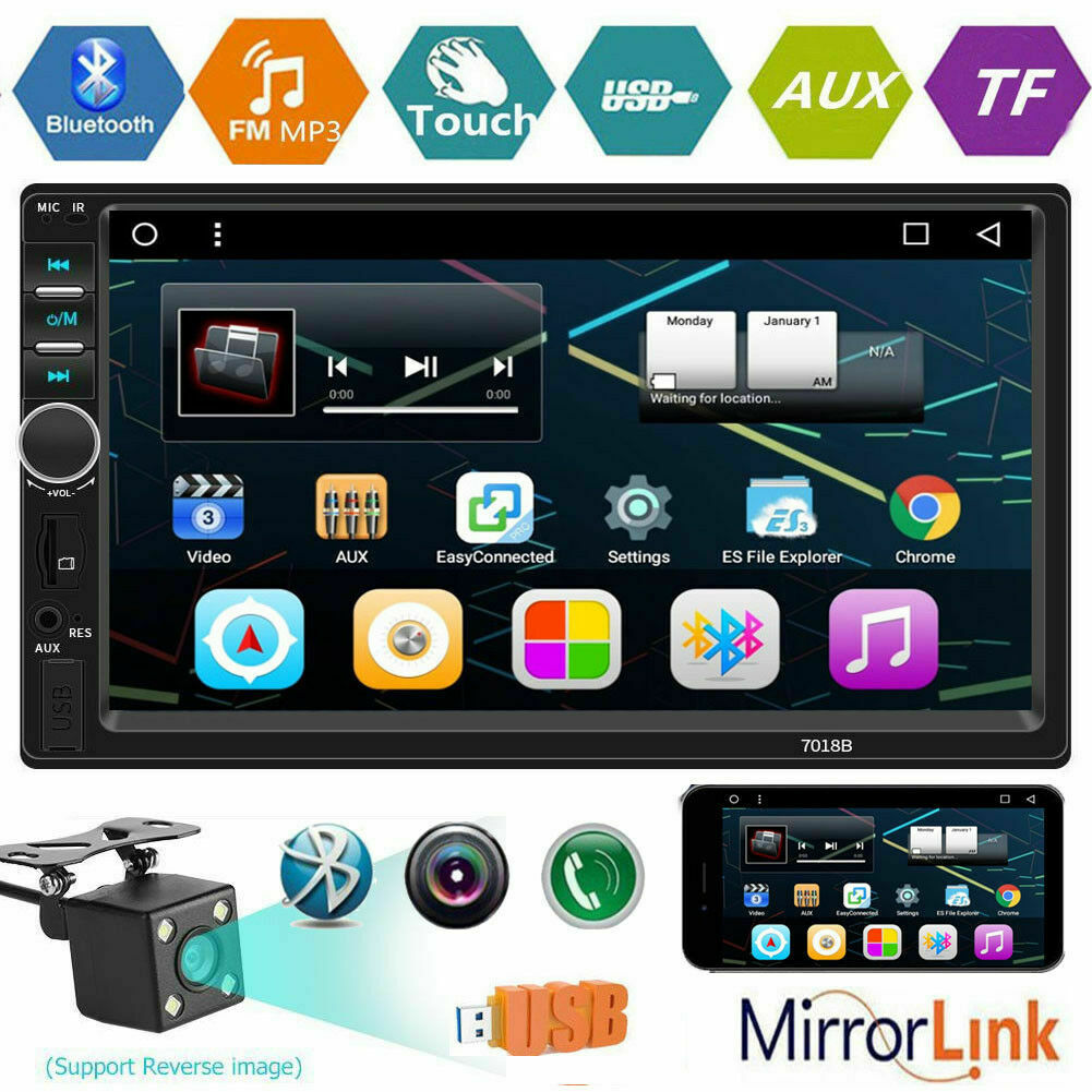 "7"" Double 2Din Touch Screen Car Stereo MP5 Player Bluetooth"