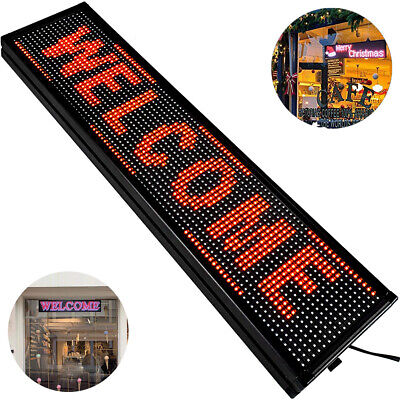 40 X 8 Red Indoor Led Sign Programmable Scrolling Message Board Hanging P10
